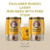 Paulaner Munich Beer Mini Keg - 2 PACK with Paulaner Stein logo