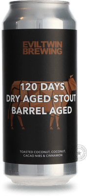 Photo of 120 Days Dry Aged Stout Barrel Aged Toasted Coconut, Coconut, Cacao Nibs & Cinnamon